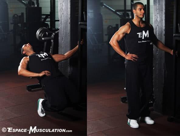 Le sissy squat pour se muscler les quadriceps