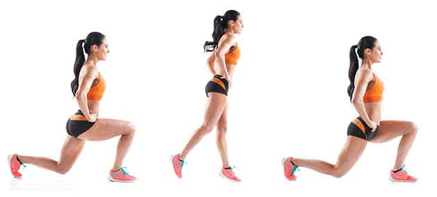 split-lunges