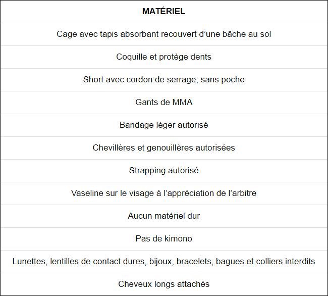 materiel-MMA